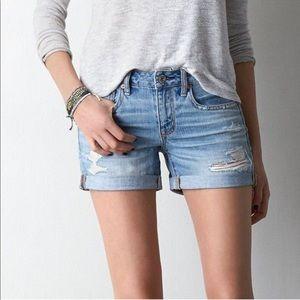 American Eagle Boy Midi Jean Shorts Super Mystical